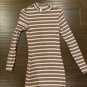 American Apparel Bodycon Long Sleeve Striped Dress